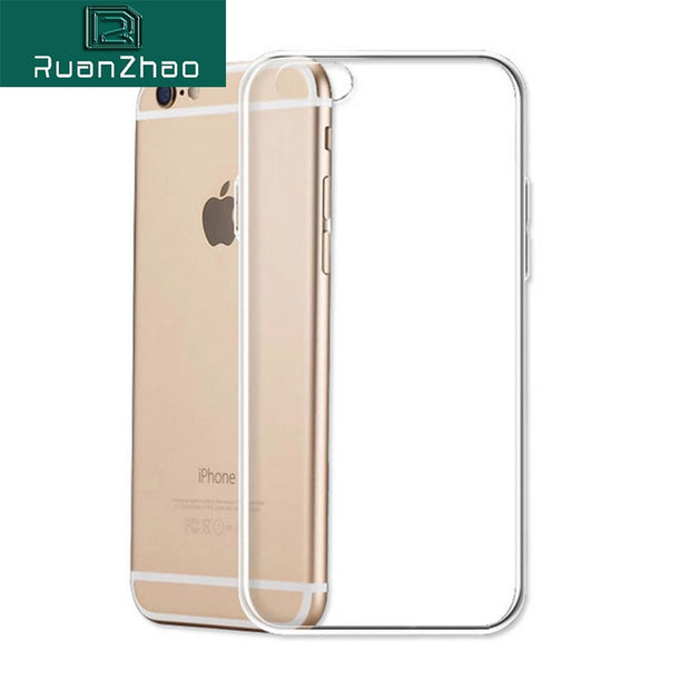 Thin Soft TPU Gel Original Transparent Case For IPhone 6 6s Plus 7 8 Plus 5 S SE Crystal Clear Silicon Back Cover Phone Bags