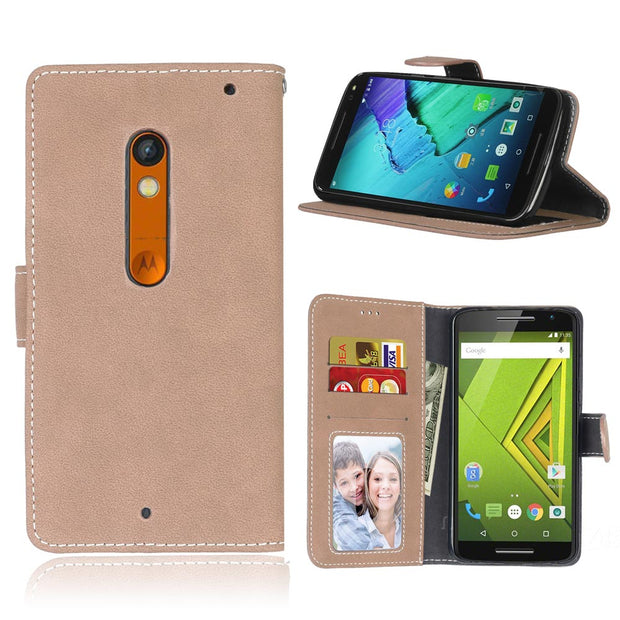 Top Quality Wallet PU Leather Case For Motorola Moto X Play/Moto LUX Stand Card Holder Phone Bag Luxury Flip Cover Capa Fundas