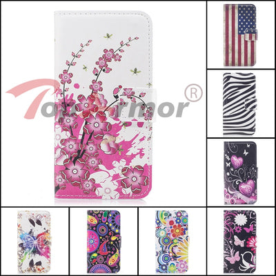 TopArmor 14 Styles PU Leather Painted Shell For Motorola Moto E E2 E3 G G2 G3 G4/G4plus G5 X X2 Flip Stand Phone Case Bags Capa