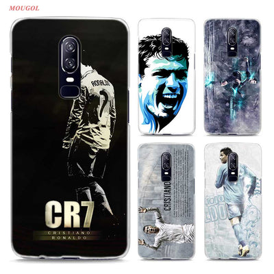 Transparent Hard Case For Oneplus 6 Cool Ronaldo Love Football Printing Drawing Hard Phone Cases Cover For Oneplus 6