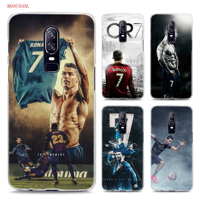 Transparent Hard Case For Oneplus 6 Cr7 Cristiano Ronaldo Art Printing Drawing Hard Phone Cases Cover For Oneplus 6