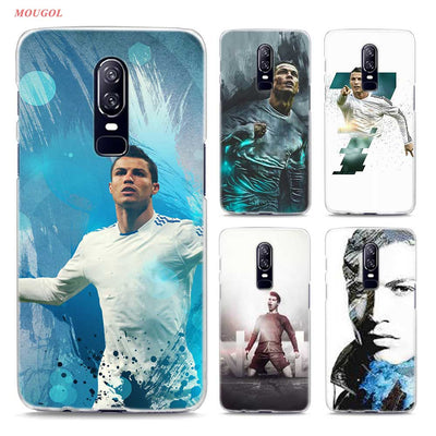 Transparent Hard Case For Oneplus 6 Cr7 Cristiano Ronaldo Printing Drawing Hard Phone Cases Cover For Oneplus 6