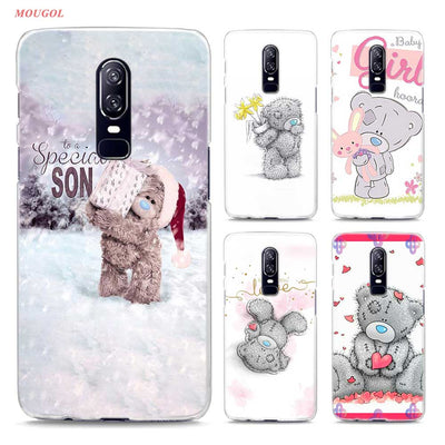 Transparent Hard Case For Oneplus 6 Cute Me To You Bear Printing Drawing Hard Phone Cases Cover For Oneplus 6
