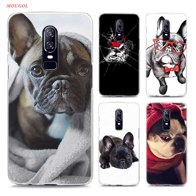 Transparent Hard Case For Oneplus 6 Cute Pocket French Bulldog Printing Drawing Hard Phone Cases Cover For Oneplus 6