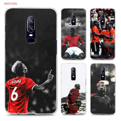 Transparent Hard Case For Oneplus 6 Football Paul Pogba Printing Drawing Hard Phone Cases Cover For Oneplus 6
