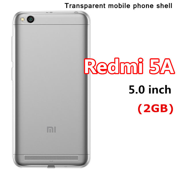 Transparent Phone Cases For Xiaomi Redmi 5A 5.0 Inch Soft And Comfortable Protective 360 Cover Mobile Phone Shell