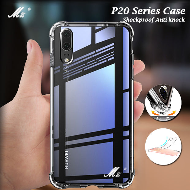 Transparent Silicone Case For Huawei P20 P 20 Lite Plus Pro Nova 3E Shockproof Anti Knock