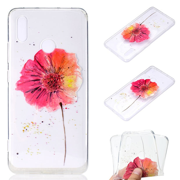 Transparent Soft TPU Cover For Huawei Honor Note 10 Case Colour Decoration Tower Bike Butterfly Girl Design Mobile Phone Cases
