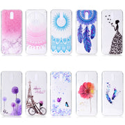 Transparent Soft TPU Cover For OPPO R17 Case Colour Decoration Tower Bike Butterfly Girl Design Mobile Phone Cases