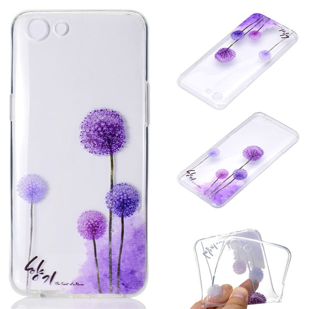 Transparent Soft TPU Cover For OPPO R9S Plus/F3 Plus Case Colour Decoration Tower Bike Butterfly Girl Design Mobile Phone Cases