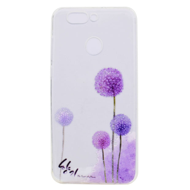 Transparent TPU Cover For Huawei Nova 2 Plus Case Colour Decoration Tower Bike Butterfly Girl Design Phone Case