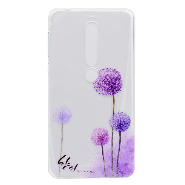 4a4126e0b4 Transparent TPU Cover For Nokia 6 2018 Case Colour Decoration Tower Bike  Butterfly Girl Design Phone Cases