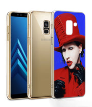 UK Marilyn Manson Phone Case For Samsung Galaxy J2 J3 J4 Plus J5 J6 Plus J7 J8 2018 Soft Silicone Cases Cover