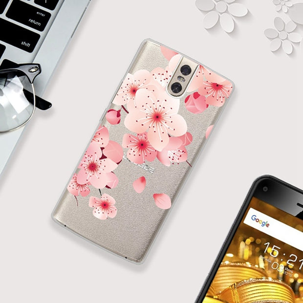 UTOPER Case For DOOGEE BL7000 Case Fashion Flower Printed Protective Coque For DOOGEE BL 7000 Cover Silicon Shockproof Shell
