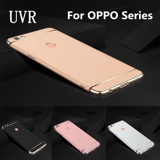 UVR For OPPO F5 Case Removable 3 In 1 Hard Plastic Case For OPPO NEO5 /A31 NEO7 /A33 NEO9 /A37 R11 Plus R11S S PC Matte Cover