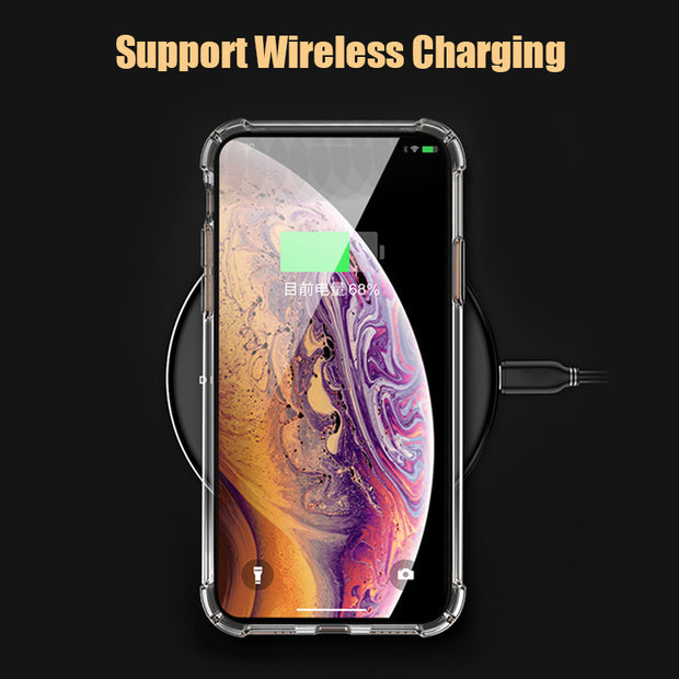 UYG Transparent Cover For IPhone XS Max XR Case Shockproof Soft TPU Silicone Phone Case For IPhone X 6 6S 7 8 Plus 5 5S SE Coque