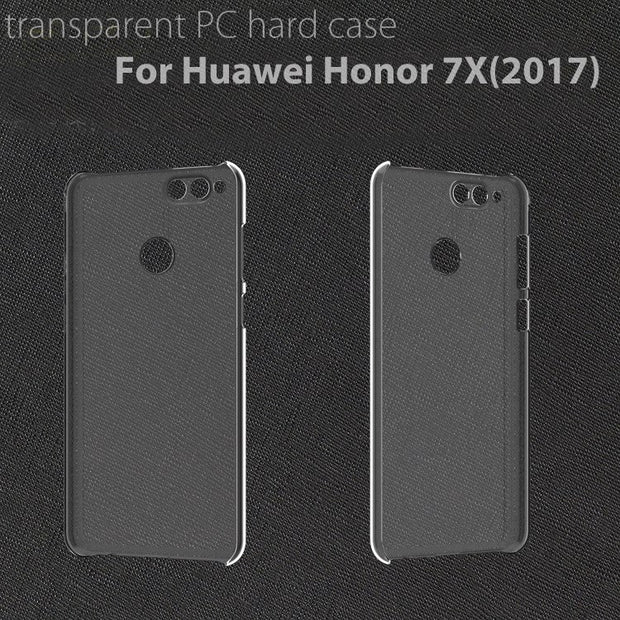 Ultra Clear Crystal Transparent 4 Sides Protective PC Hard Back Case Cover Shell For Huawei Honor 7X(2017)