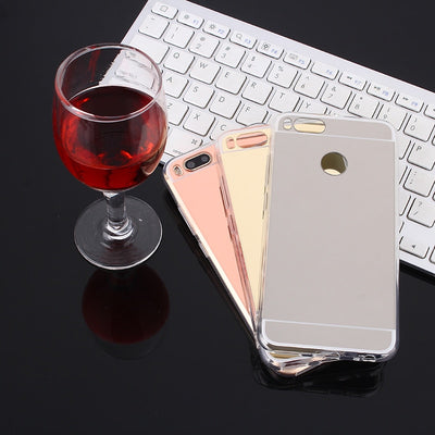 Ultra Thin Cover For Xiaomi Mi Mix Mix2 5X 6X Soft Case TPU Silicone Clear Case For Xiaomi Mix2s 5 5s 6 8 Plating Mirror Capa