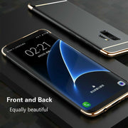 Ultra-thin 3 In 1 Luxury Hard PC Case For Samsung Galaxy S6 S7 S8 S9 Edge Plus J3 J5 J7 A3 A5 A7 2017 Note 8 9 5 Phone Cover