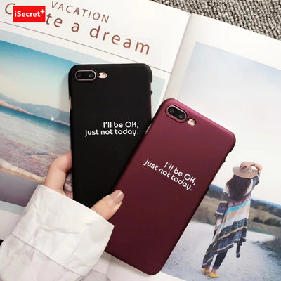 VORSON Couple Case For Iphone X Case Iphone 6 6s 7 8 Plus Cover Simple Word Kawaii Sweet PC Back Cell Phone Capa Fashion Coque