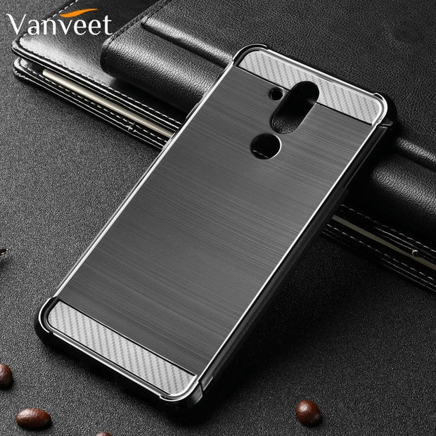 Vanveet Silicone Cases For Huawei Mate 20 Lite Case Brushed For Huawei Mate20 Lite Case Back Cover Housing Capa Coque Hood Coque