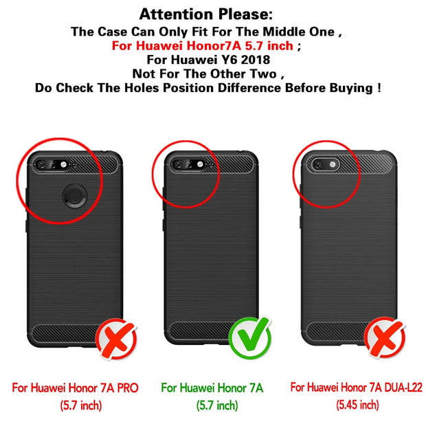 Vanveet Silicone Cases For Huawei Y6 2018 Case Shockproof For Honor 7A Case Back Cover For Cover Housing Capa Coque For Honor7A