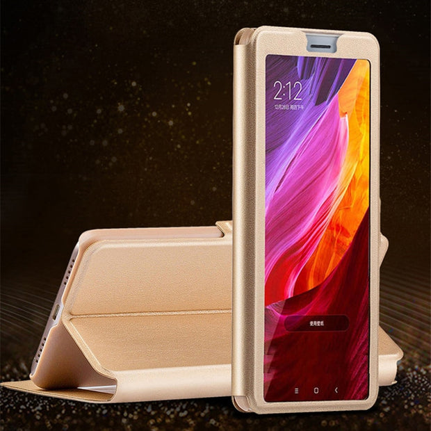 View Window Flip Case For Samsung Galaxy Grand Max 3 G7200 Dous I9082 Prime G530H G7106 Leather Coque Phone Bags Cover Capa