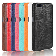 Vintage Leather Case For Oneplus 1 2 3 3T 5 5T Crocodile Patterned Phone Case For One Plus X 1+5T Protective Cover Coque Fundas