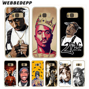 WEBBEDEPP 2Pac Tupac Shakur Hard Transparent Phone Case For Galaxy S6 S7 Edge S9 S8 Plus S5 S4 S3 Cover