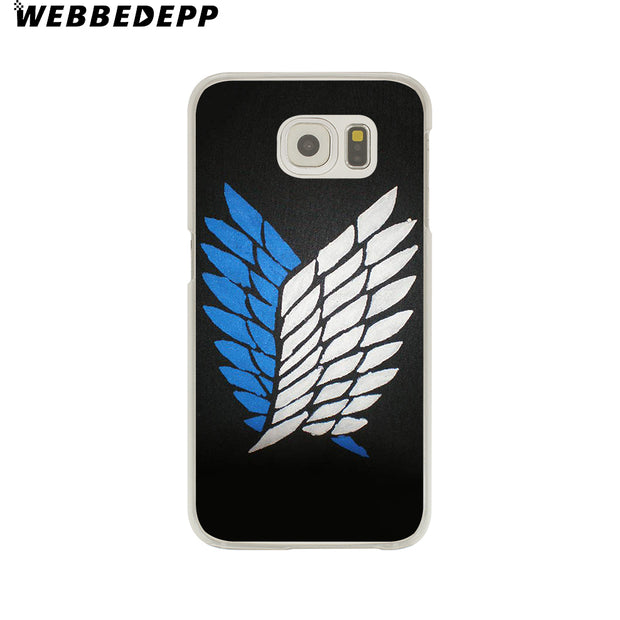 WEBBEDEPP Anime Japanese Attack On Titan Hard Transparent Phone Case For Galaxy S6 S7 Edge S9 S8 Plus S5 S4 S3 Cover