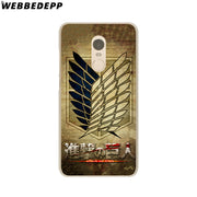 WEBBEDEPP Anime Japanese Attack On Titan Phone Case For Xiaomi Redmi 4X 4A 5A 5 Plus 6 Pro 6A S2 Note 5 6 Pro 4X Cover