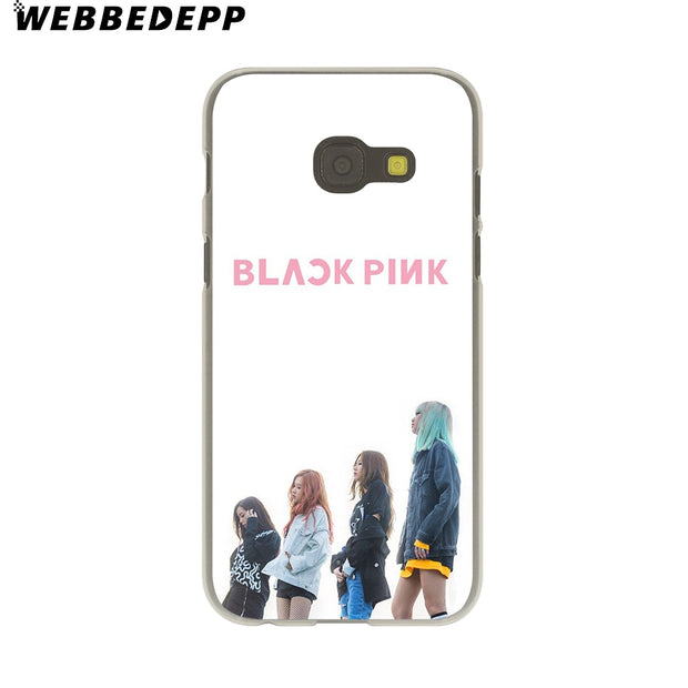WEBBEDEPP BLACKPINK Hard Case For Galaxy A3 A5 2015 2016 2017 A6 A8 Plus 2018 Note 8 9 Grand Cover