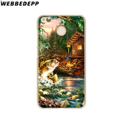 WEBBEDEPP Bass Fishing Lake Sunset Fisherman Phone Case For Xiaomi Redmi 4X 4A 5A 5 Plus 6 Pro 6A S2 Note 5 6 Pro 4X Cover