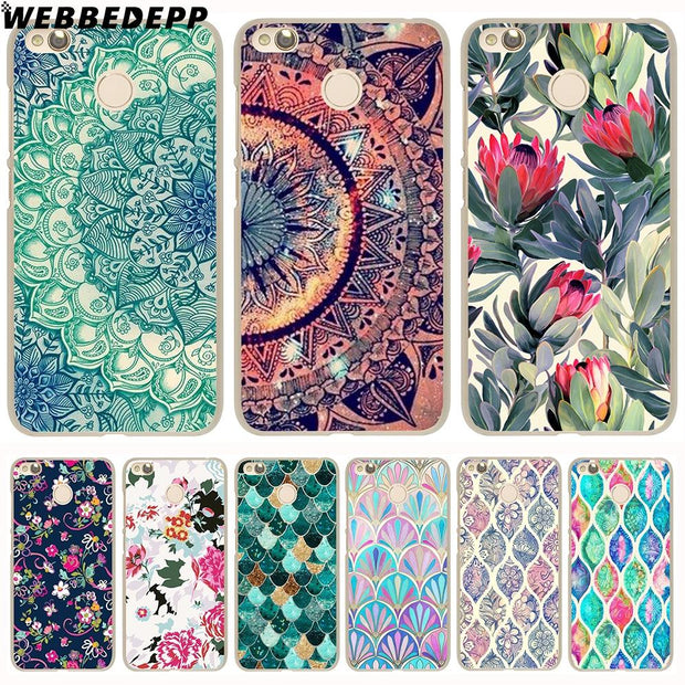 WEBBEDEPP Beautiful Flowers Datura Flower Phone Case For Xiaomi Redmi 4X 4A 5A 5 Plus 6 Pro 6A S2 Note 5 6 Pro 4X Cover
