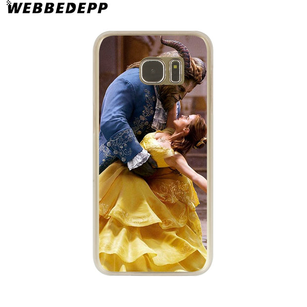 WEBBEDEPP Beauty And The Beast Bella Hard Transparent Phone Case For Galaxy S6 S7 Edge S9 S8 Plus S5 S4 S3 Cover