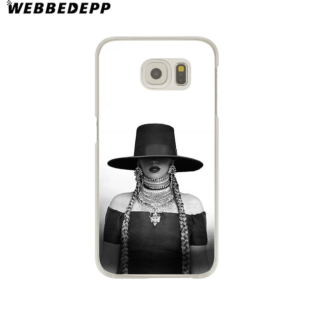 WEBBEDEPP Beyonce Pop Music Hard Transparent Phone Case For Galaxy S6 S7 Edge S9 S8 Plus S5 S4 S3 Cover