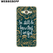 WEBBEDEPP Bible Verse Philippians Hard Case For Galaxy A3 A5 2015 2016 2017 A6 A8 Plus 2018 Note 8 9 Grand Cover