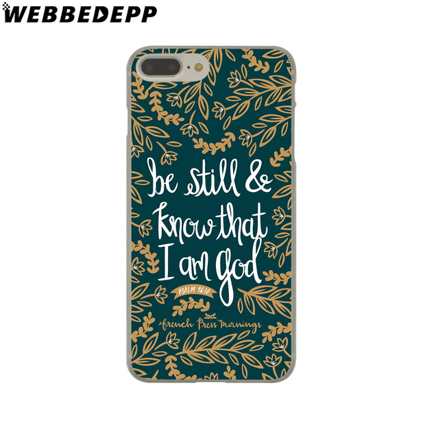 WEBBEDEPP Bible Verse Philippians Hard Phone Case For IPhone X XS Max XR 7 8 6S Plus 5 5S SE 5C 4 4S Cover