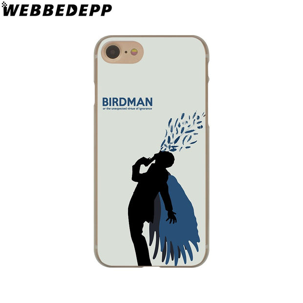 WEBBEDEPP Birdman Hard Phone Case For IPhone X XS Max XR 7 8 6S Plus 5 5S SE 5C 4 4S Cover