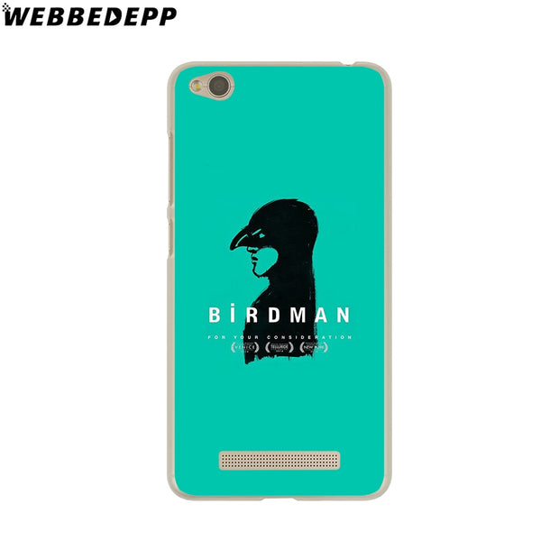 WEBBEDEPP Birdman Phone Case For Xiaomi Redmi 4X 4A 5A 5 Plus 6 Pro 6A S2 Note 5 6 Pro 4X Cover
