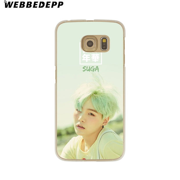WEBBEDEPP Bts Bangtan Young Forever Hard Transparent Phone Case For Galaxy S6 S7 Edge S9 S8 Plus S5 S4 S3 Cover
