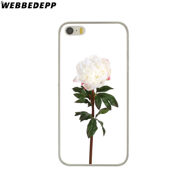 WEBBEDEPP Cartoon Cute Plants Leaves Flower Hard Phone Case For IPhone X XS Max XR 7 8 6S Plus 5 5S SE 5C 4 4S Cover