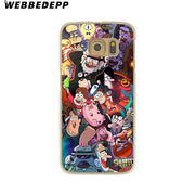 WEBBEDEPP Cartoon Gravity Falls Anime Hard Transparent Phone Case For Galaxy S6 S7 Edge S9 S8 Plus S5 S4 S3 Cover