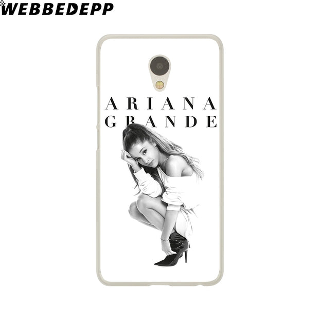 WEBBEDEPP Cat Ar Ariana Grande Phone Case For Meizu M6 M5 M3 Note M6S M5S M5C M3S Mini Cover