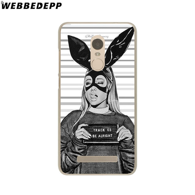 WEBBEDEPP Cat Ar Ariana Grande Phone Case For Xiaomi Redmi 4X 4A 5A 5 Plus 6 Pro 6A S2 Note 5 6 Pro 4X Cover
