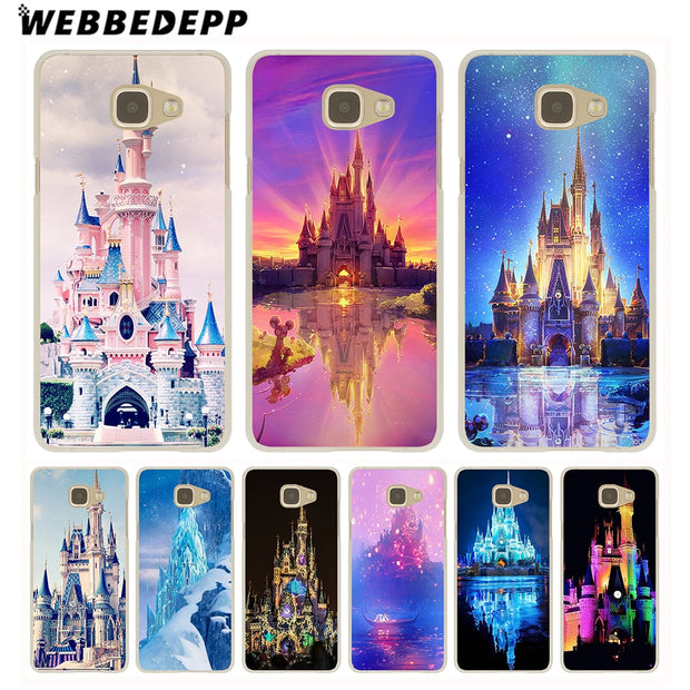 WEBBEDEPP Cinderella Castle Hard Case For Galaxy A3 A5 2015 2016 2017 A6 A8 Plus 2018 Note 8 9 Grand Cover