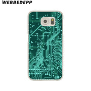 WEBBEDEPP Circuit Board Hard Transparent Phone Case For Galaxy S6 S7 Edge S9 S8 Plus S5 S4 S3 Cover