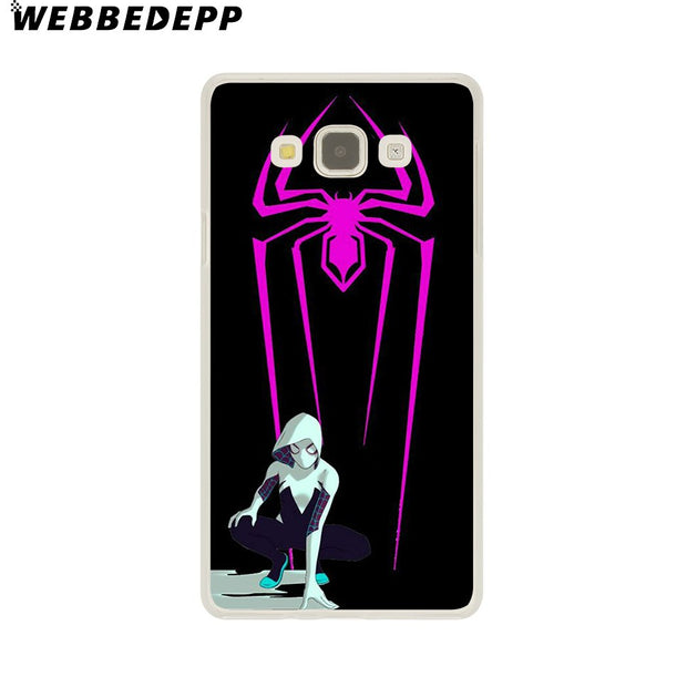 WEBBEDEPP Comics Spider Gwen Hard Case For Galaxy A3 A5 2015 2016 2017 A6 A8 Plus 2018 Note 8 9 Grand Cover