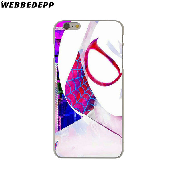 WEBBEDEPP Comics Spider Gwen Hard Phone Case For IPhone X XS Max XR 7 8 6S Plus 5 5S SE 5C 4 4S Cover