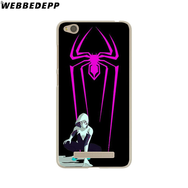 WEBBEDEPP Comics Spider Gwen Phone Case For Xiaomi Redmi 4X 4A 5A 5 Plus 6 Pro 6A S2 Note 5 6 Pro 4X Cover